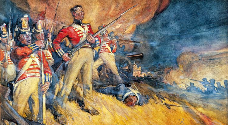In a confused slugfest at Lundy's Lane on July 25, the British held their ground. Afterwards, the Americans retired to Old Fort Erie.