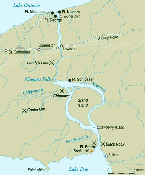 The Niagara River divided Canada and the United States and was a key theater in the latter stages of the War of 1812.