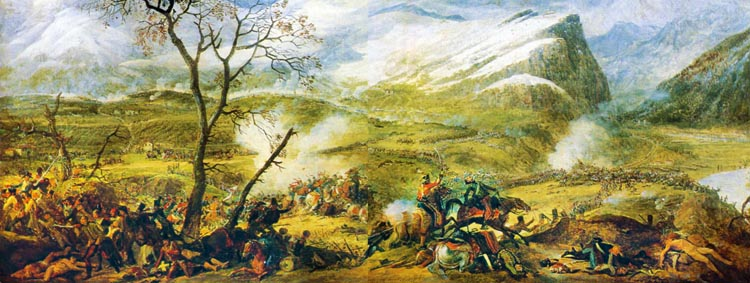 Austrian troops became disorganized as they fought across the broken terrain at the Battle of Rivoli, and French cavalry exploited the situation.