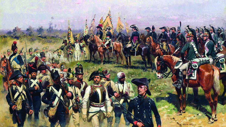 Napoleon immediately set about getting back pay and new uniforms for his troops when he assumed command of the Army of Italy.