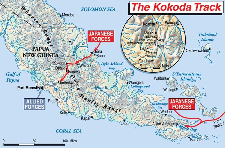 Kakoda Trail map