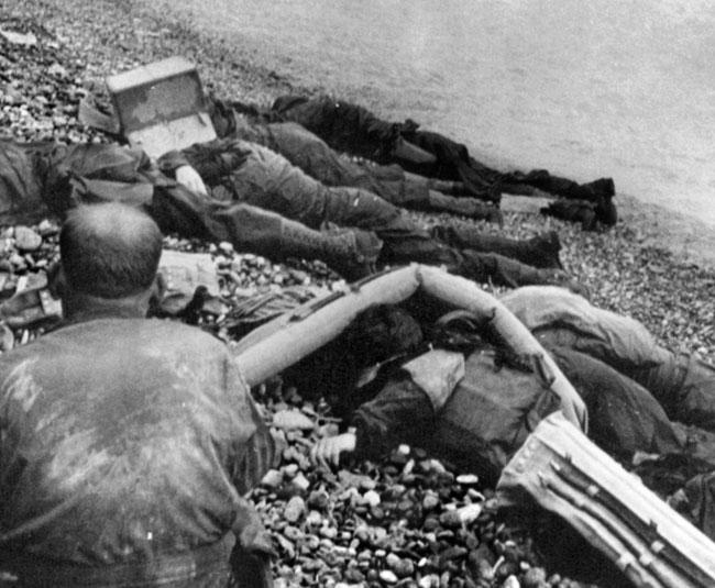 Omaha Beach dead