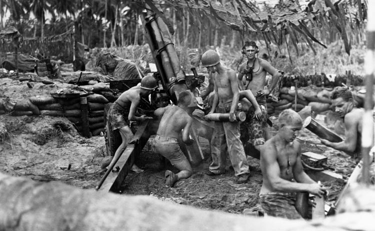 artillery on bougainville