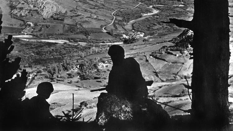 German paratroopers at Monte Cassino