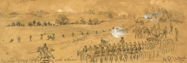Brigadier General David Gregg's Federal troops skirmish with Confederates under Colonel Lunsford Lomax during one of several reconnaissances in force on September 13, 1863. Cavalry commander J.E.B. Stuart withdrew his own forces rather than provoke a larger attack.