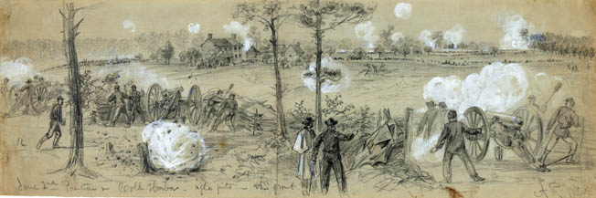 The Union Army of the Potomac's artillery reserve used massed cannons to provide concentrated and sustained firepower.