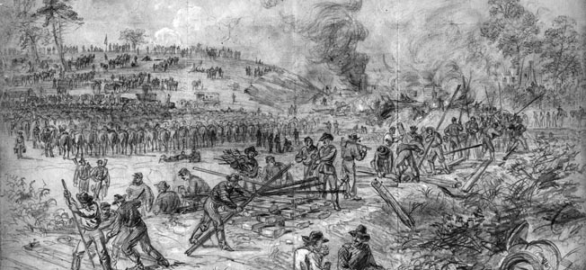 Union forces destroying Southern rail lines. Commanding General Ulysses S. Grant hoped Sheridan's raid would be able to do the same thing, cutting off Robert E. Lee's food supplies at Petersburg. The Confederates had other things in mind for Sheridan.
