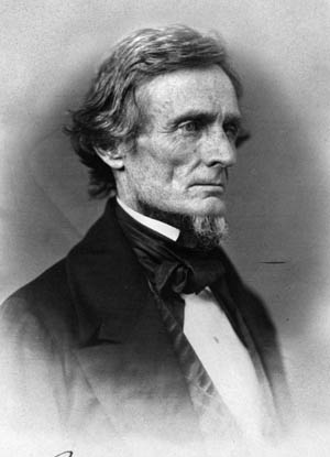 Secretary of War Jefferson Davis in the mid-1850s.