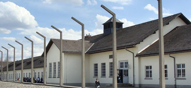 Dachau Concentration Camp memorial site reminds visitors of the crimes perpetrated by the Third Reich.