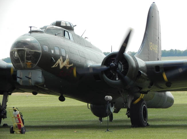 Sally B, a restored B-17 that flies regularly in air shows, has the sound of her engines recorded by a microphone. The bomber has appeared in numerous TV productions and feature films, including Memphis Belle.