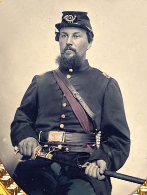 An unidentified officer believed to be from the 4th U.S. Regulars.