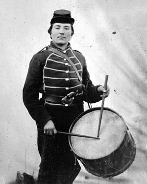 Drummer William Haines, of the 49th Ohio Infantry.