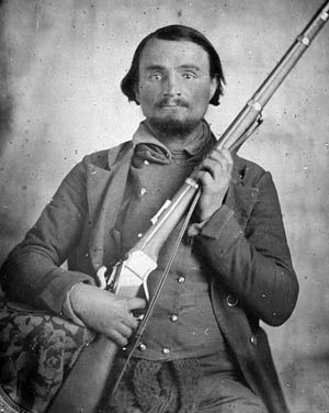 Lieutenant John Beall of the 14th Texas Cavalry, which fought dismounted at Franklin.