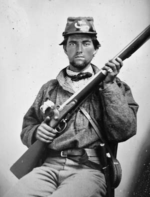 Private George Guinn of the 52nd Virginia.
