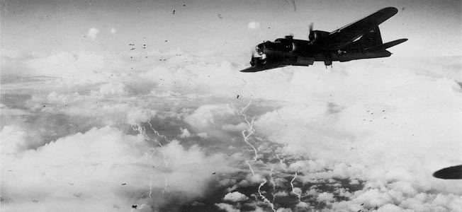 A B-17 crew of the 390th Bomb Group endured a harrowing gauntlet of German defenses during a November 30, 1944, mission over Merseburg.