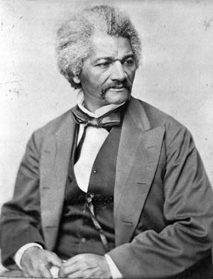Abolitionist leader and former slave Frederick Douglass.