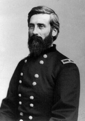 Colonel Edward Hatch of the 2nd Iowa Cavalry.