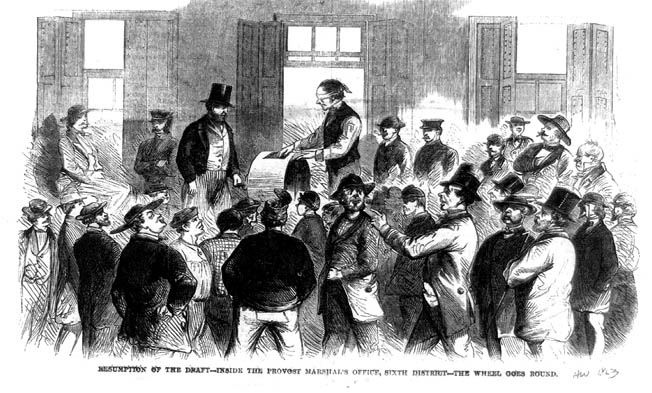 The draft resumed peacefully on August 19,a month after Secretary of War Edwin Stanton sent 10,000 Union troops into the city to guard against further violence.