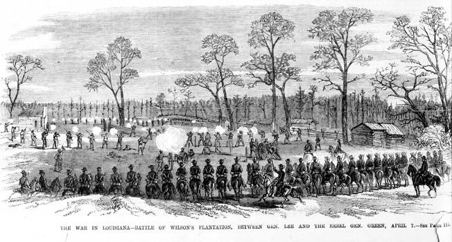 Brigadier General Albert Lee's untested cavalry withstood a surprise Confederate attack at Wilson's Farm on April 7.