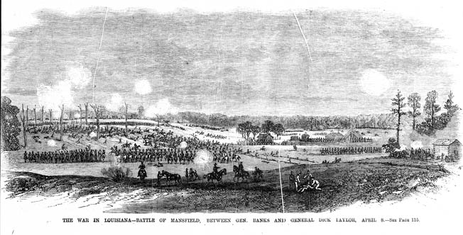 """Maj. Gen. Nathaniel Banks's army crosses the Cane River on March 31, 1864. The rugged bayous and alligator-haunted swamplands were a """"howling wilderness,"""" said one Massachusetts cavalryman."""