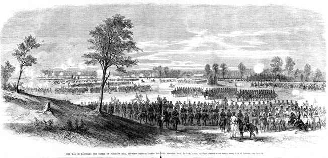 Union forces attack in improbable good order during the Battle of Pleasant Hill on April 9. The Federals won a tactical victory, but panicky commanders fumbled away their advantage.