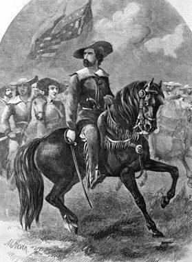 John C. Frémont, the famous Pathfinder, in full explorer's regalia.