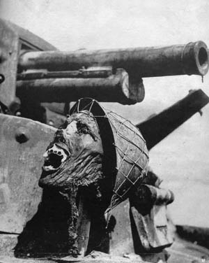 Morse's shocking photo of a burned, severed Japanese head propped up on a Japanese tank at Guadalcanal was one of the most horrific images published during the war.