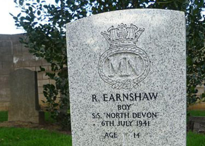 Reginald Earnshaw: The Youngest British Casualty