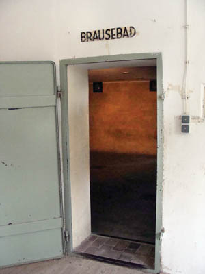 Entry to the Brausebad (shower room) that was in reality a gas chamber. It is believed that no gassings were carried out here, and this was only a training facility for SS personnel.