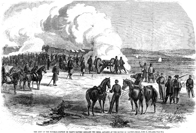 Confederate infantry charged into the teeth of Porter's guns. The Union gunners switched to canister rounds , but still could not stop the gray tide.