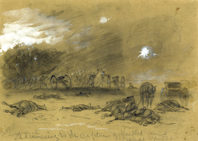 The victorious Confederates captured many cannons and tow regiments of infantry, but nightfall prevented another attack that might have destroyed Porter's command. Sykes' regulars covered the retreat of Union troops over four fragile bridges spanning the Chickahominy River.