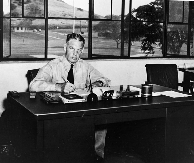U.S. Commander Harold M. Martin oversaw Naval Air Station Kaneohe Bay where PBY-type patrol aircraft were maintained.