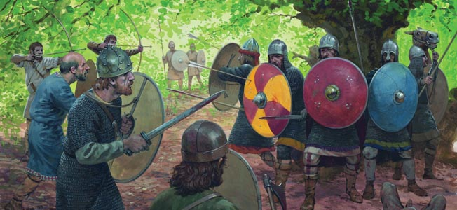 Saxon leader Widukind outsmarted a Frankish force at the Battle of Suntel in 782. Charlemagne made the Saxons pay for their treachery.