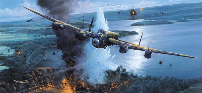 The Royal Air Force deployed the Avro Lancaster bomber during its strategic campaign to bomb the Third Reich.
