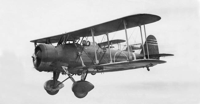The Japanese Aichi D1A2 dive bomber was a biplane with fixed landing gear that was rapidly becoming obsolete by the mid-1930s. However, it was an effective weapon in the attack against the U.S. gunboat Panay.