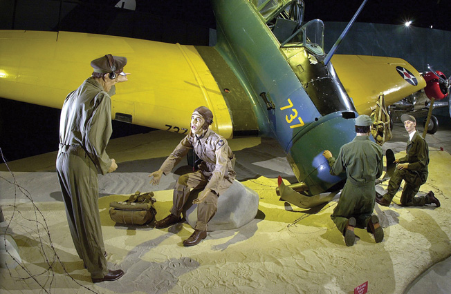 DAYTON, Ohio -- Trainer crash diorama at the National Museum of the United States Air Force. (U.S. Air Force photo)