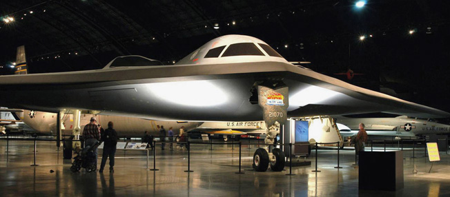 DAYTON, Ohio -- Northrop B-2 Spirit on display at the National Museum of the United States Air Force. (U.S. Air Force photo)