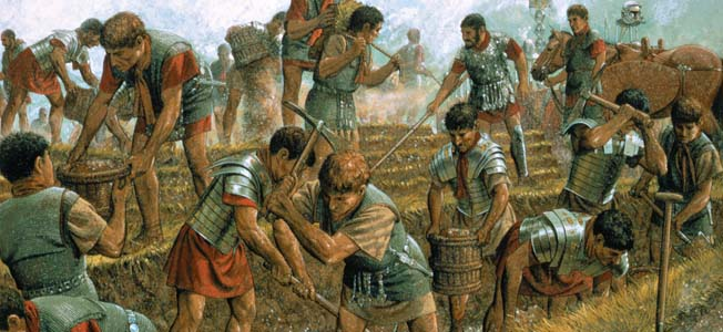 A fundamental element of classical Roman warfare, ancient Rome's marching camps were both an offensive and defensive tool for its military.