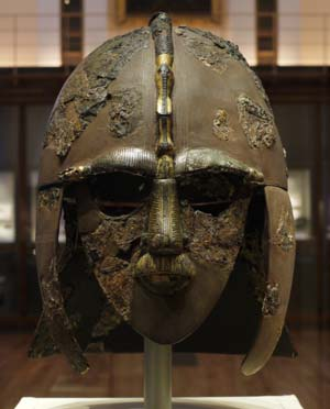 As previously discussed, higher warriors would wear mail shirts, rows of interlocking metal rings that in this period fell to the hips. Those who were lucky enough wore iron helmets, conical headgear that featured a projection in the front called a nasal.