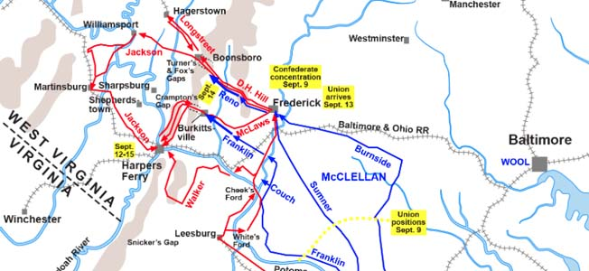 The Battle of Antietam swirled in three phases from north to south and lasted from early morning until dusk.