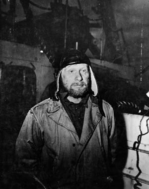 Dr. Rolf Sensse was left behind by other members of a German weather information-gathering party on Sabine Island and later captured.