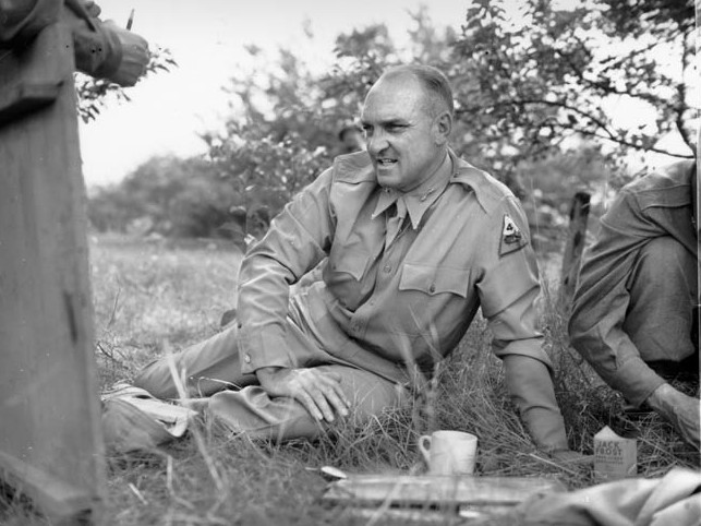 Major General John S. Wood commanded the 4th Armored Division, the spearhead of General George S. Patton, Jr.'s Third Army.