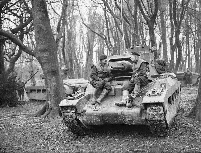 A British Matilda II during an exercise in 1940. The majority of the British tanks at Arras were machine-gun armed Matilda Is rather than the more powerful Matilda II.