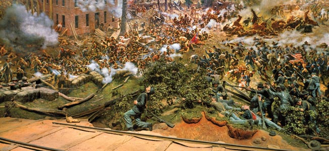 Atlanta Cyclorama. The Battle of Atlanta was painted in Milwaukee, Wisconsin, in the studios of the American Panorama Company. The company, established in 1883, was commissioned to produce two Civil War cycloramas ñ the Battle of Missionary Ridge (1883-84) and the Battle of Atlanta (1885-86) as well as a series on biblical themes.