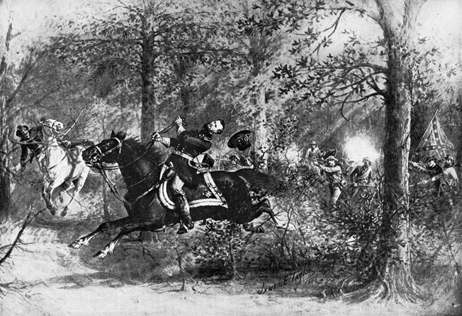 Union Maj. Gen. James B. McPherson was shot from horseback after ignoring Confederate demands to surrender. His death brought commanding General William Tecumseh Sherman to tears.