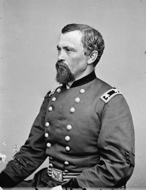 Colonel August Kautz, whose men eventually caught up with the elusive Confederate leader at Buffington Island, Ohio.