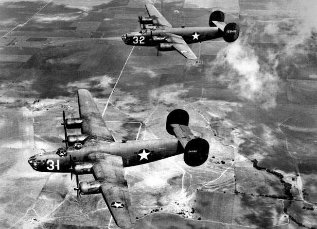 B-24 airplane suitable for long, over-water missions