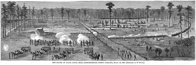 At Averasboro, North Carolina, Lt. Gen. William Hardee's Confederates held up the Union advance for two days, buying time for General Joseph E. Johnston to gather his forces at Bentonville.