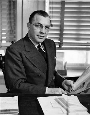 Milton Eisenhower, national head of the evacuation program.