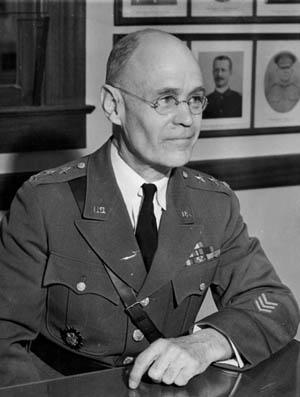 Lt. Gen. John L. DeWitt, hard-nosed administrator of the relocation program.